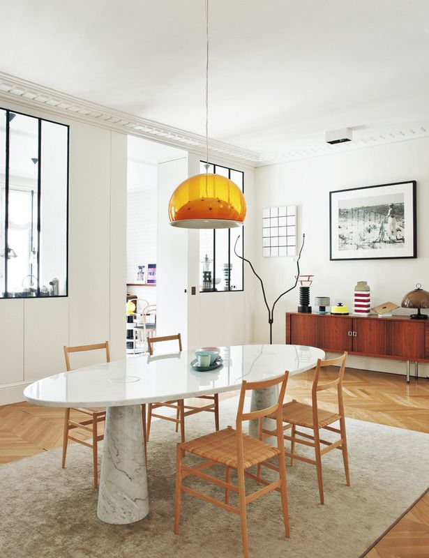 Parisian Dining Room Styled Space A Perfectly Chic Apartment In Paris  Background