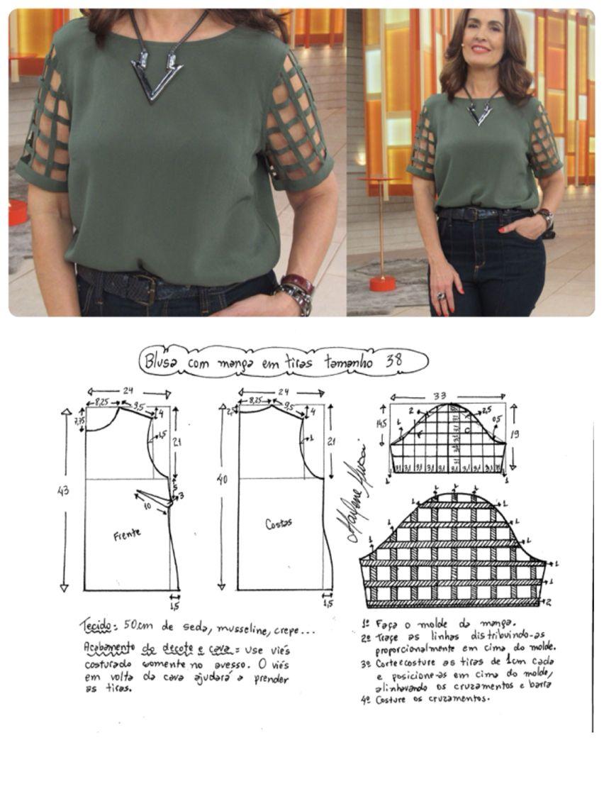 Easy blouse pattern | Vestidos | Pinterest | Costura, Molde y Patrones