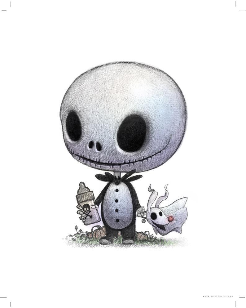 11x14 Baby Jack O Lantern Skeleton Boy With Bottle Of Etsy