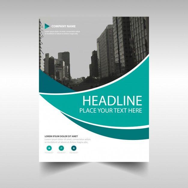 template criativo verde capa do livro relatório anual Corporate - free company profile template word