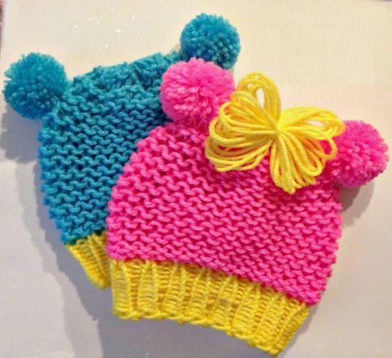 Cómo tejer un gorro de bebé - Ejemplos De | Patrones ropa bebé ...