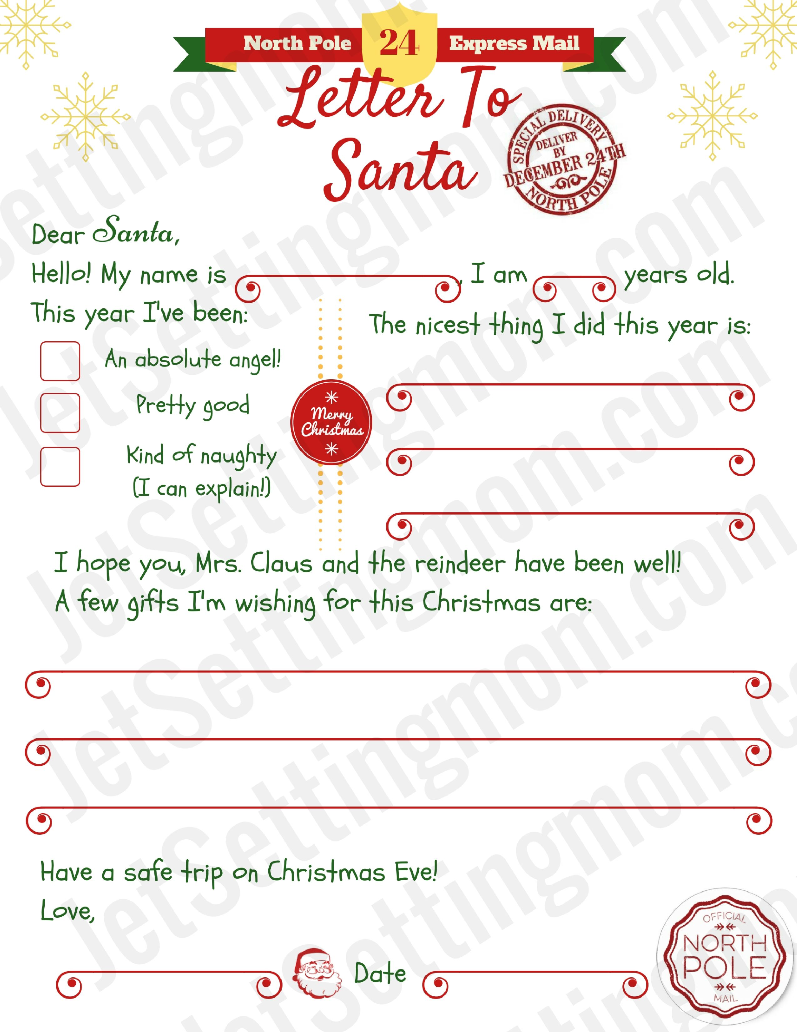Printable letter to santa template free santa letter printable printable letter to santa template free santa letter printable spiritdancerdesigns Image collections