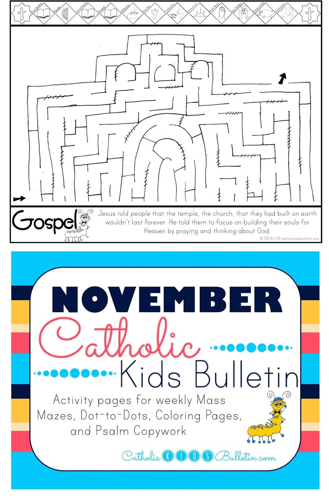 Catholic Kids Bulletin Weekly Mass Prep For Kids Luke 21 5 19