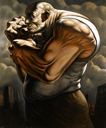 Peter Howson, a big influence on me after an exhibition in Glasgow 1993.