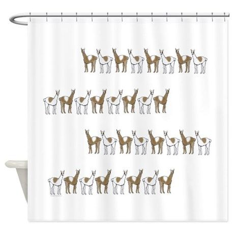 Llamas Shower Curtain On CafePress