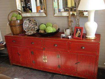 My Distressed Red Buffet