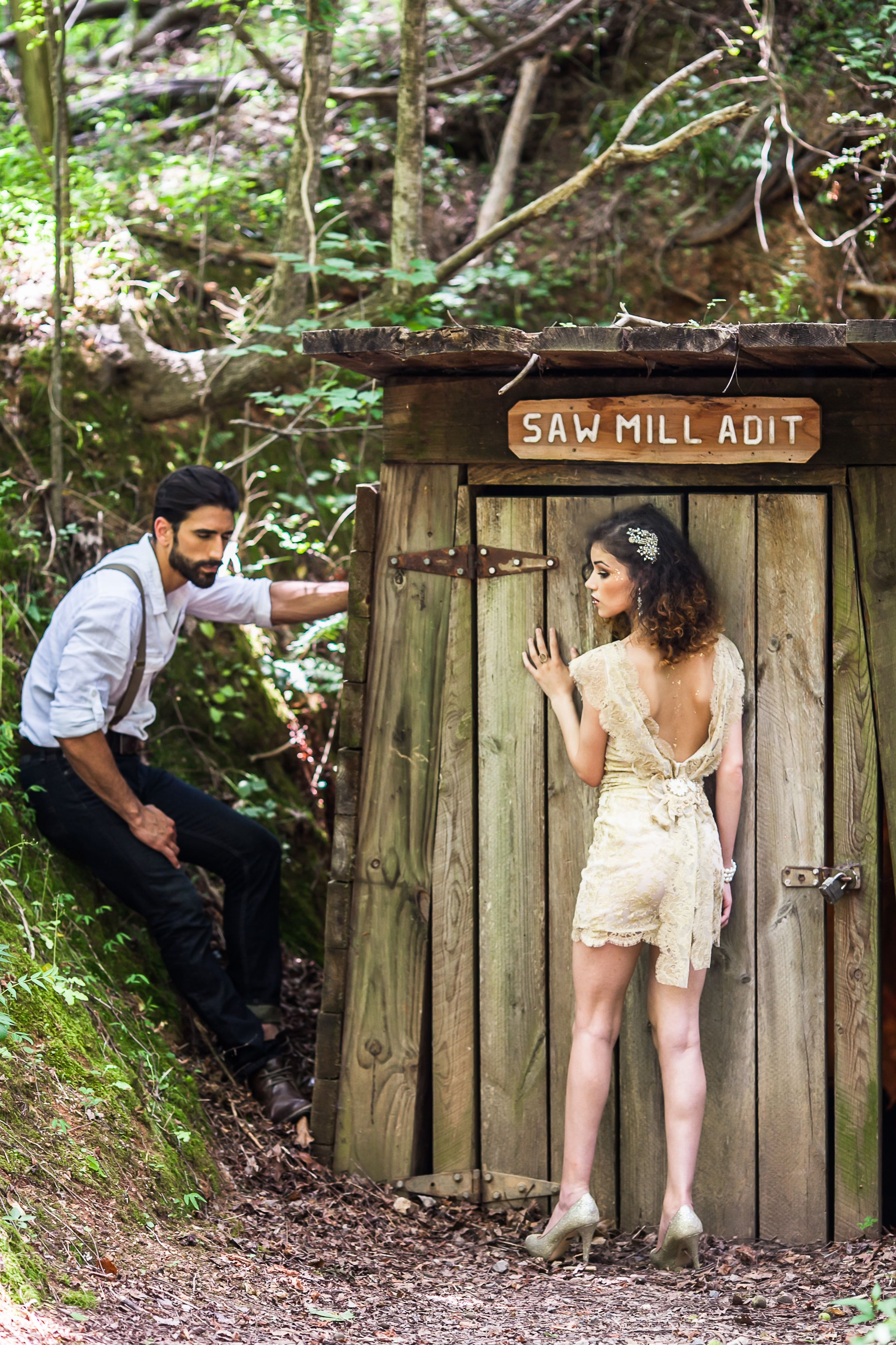 Erin Grey Couture's Reed Gold Mine Shoot | Gold Mine Bridal Shoot ...