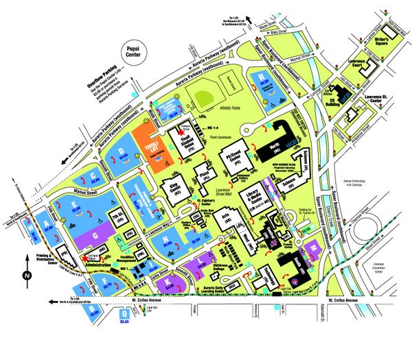 University Of Colorado Denver Map 2010 Mappery