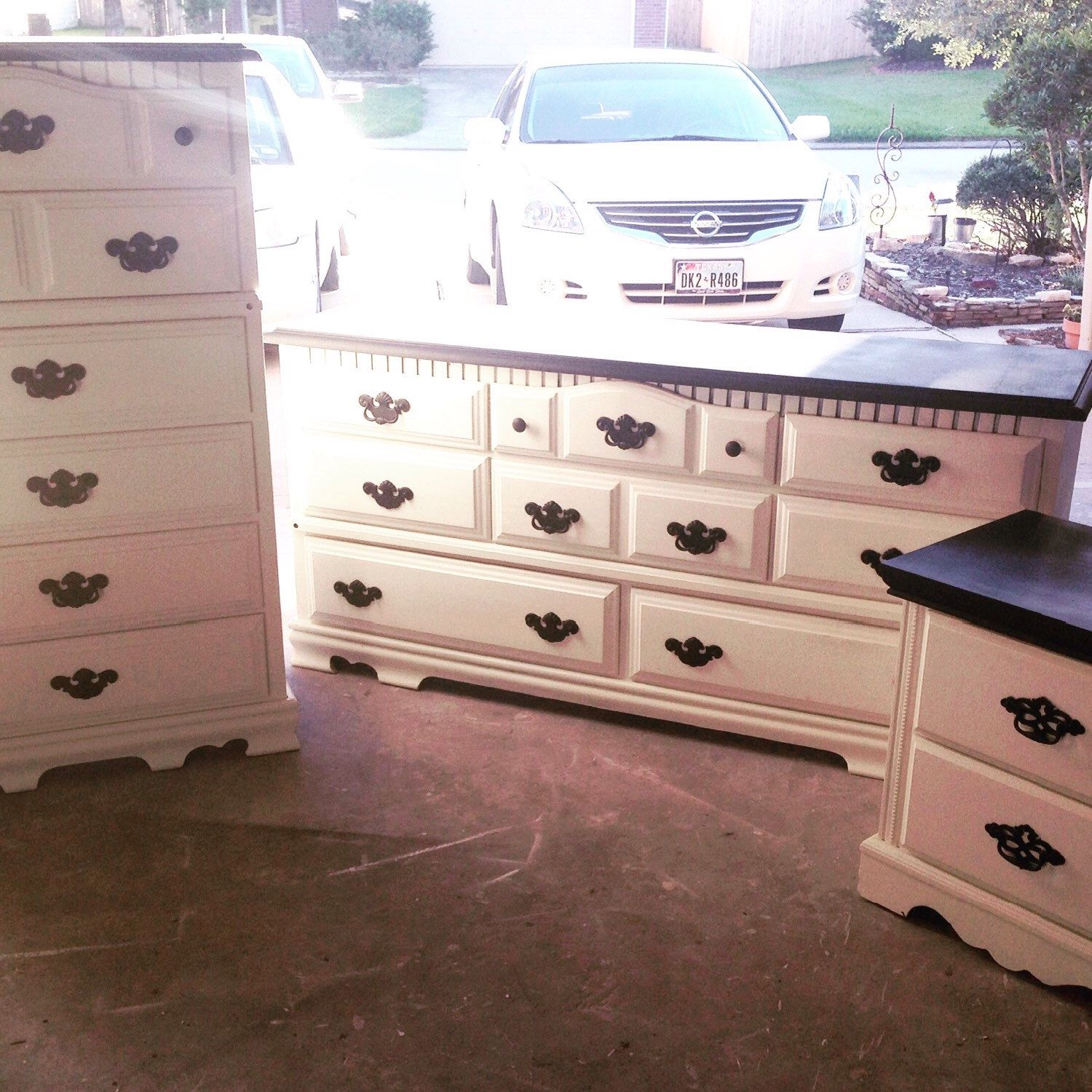 Pair of Bedroom Dressers + Nightstand by EndlessEnjoyments on Etsy https://www.etsy.com/listing/252861190/pair-of-bedroom-dressers-nightstand