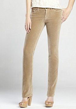 Velveteen is a good strong fabric for jeans-fitting pants ...