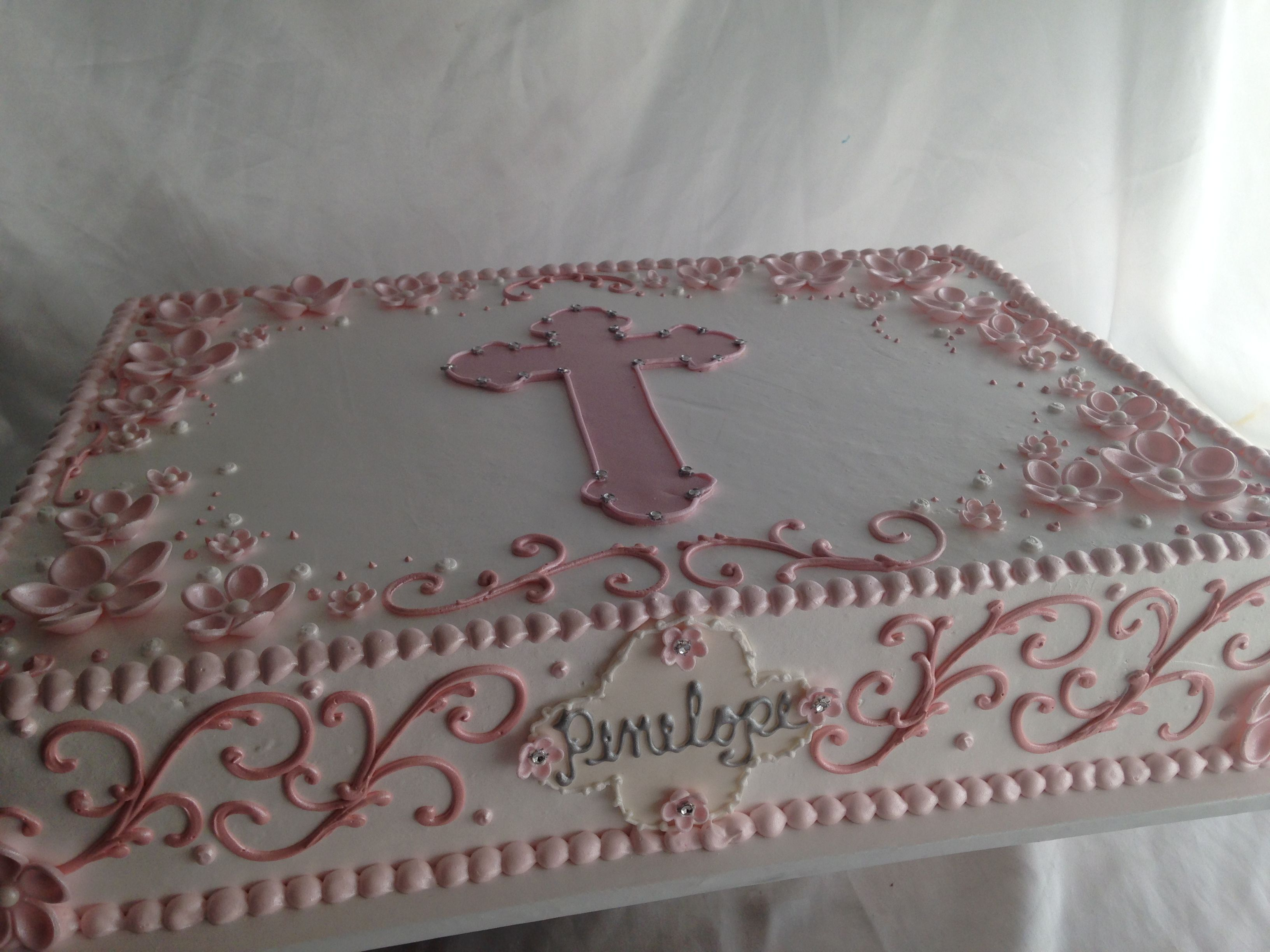 Christening Sheet Cake Designs