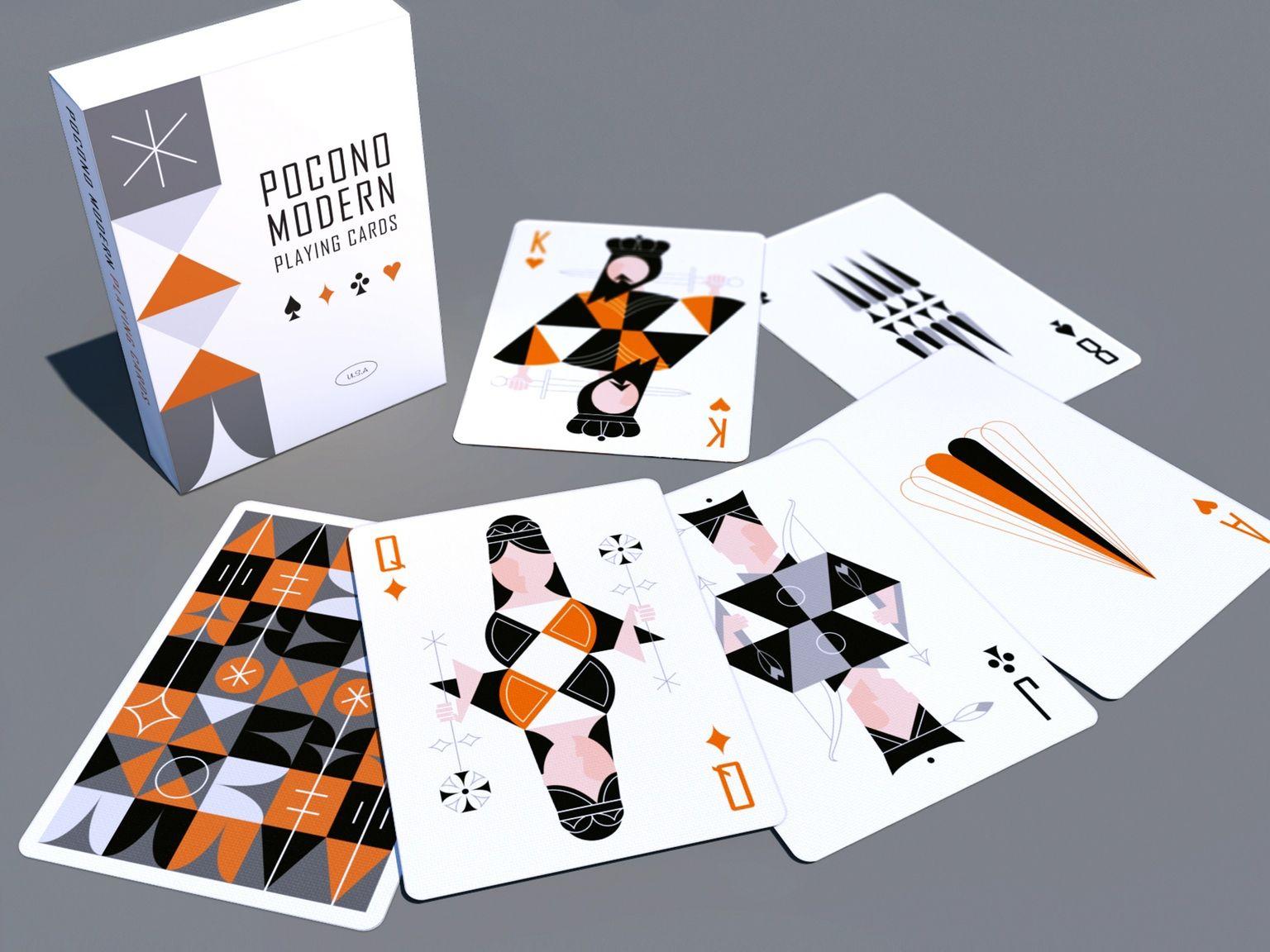 The Retro Deck Playing Cards By Pocono Modern By Kraig Kalashian