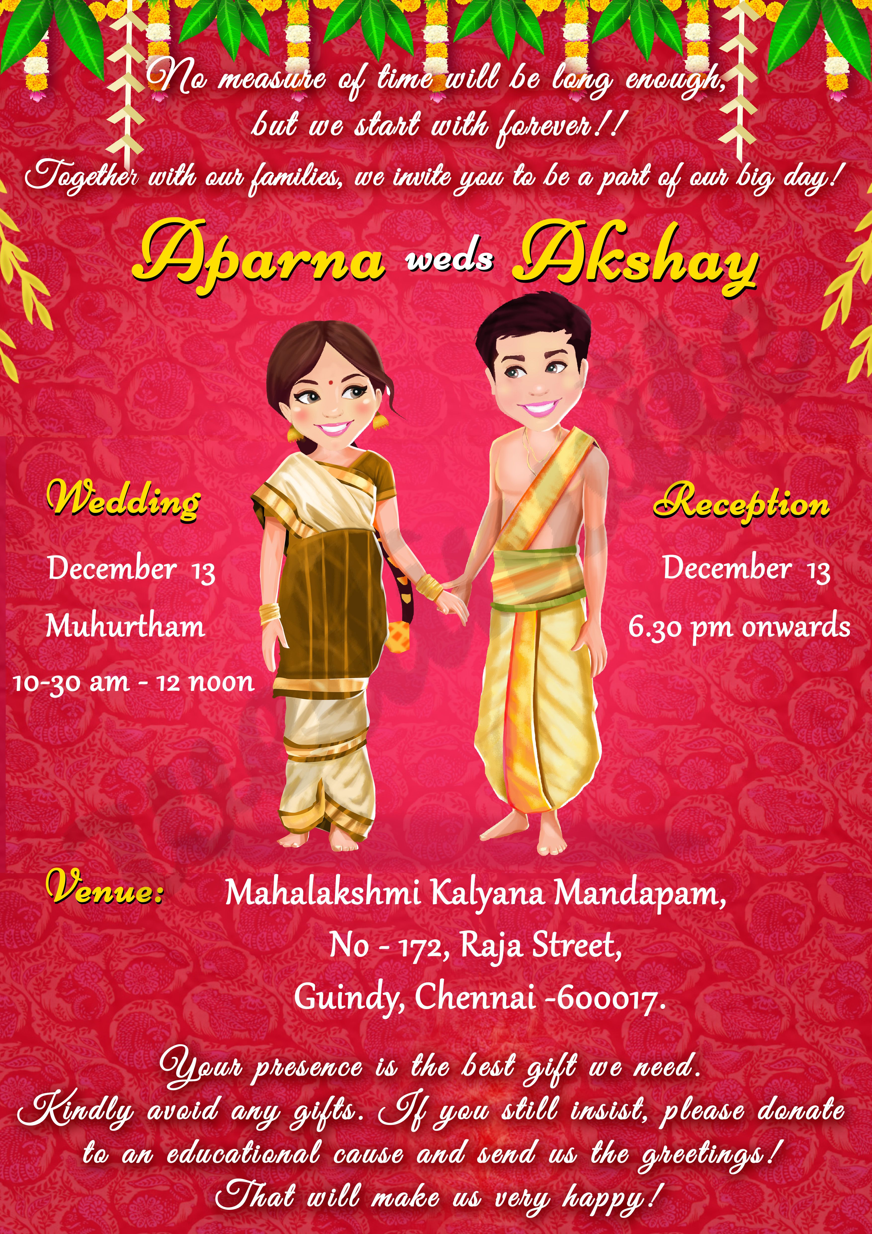 Traditional Wedding Invite Indian wedding invitation