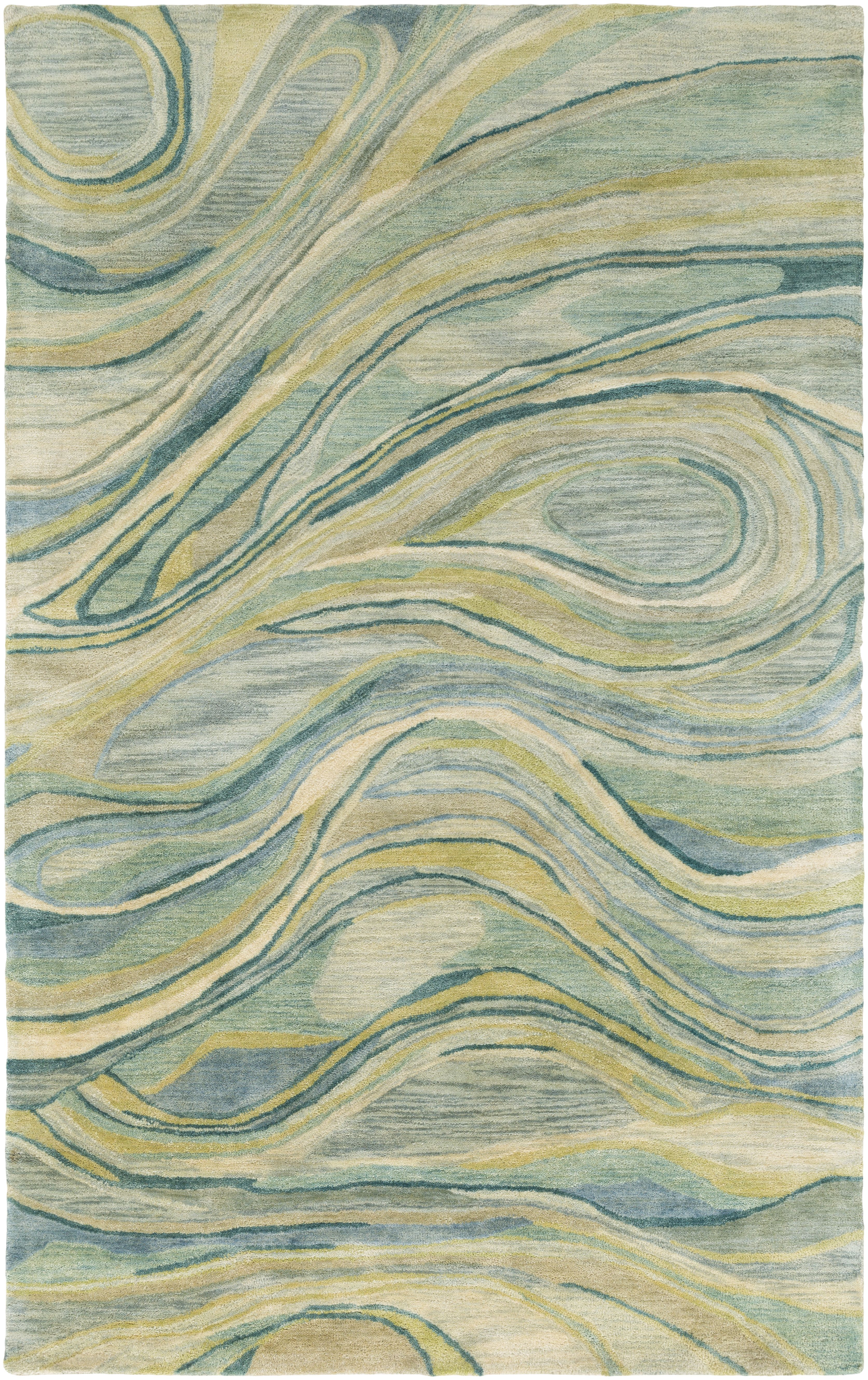 A Flowy Blend Of Soothing Sage Mint Lime Emerald And Cream Make Up This 100 Wool Rug By Designer And Wate Modern Wool Rugs Contemporary Area Rugs Area Rugs