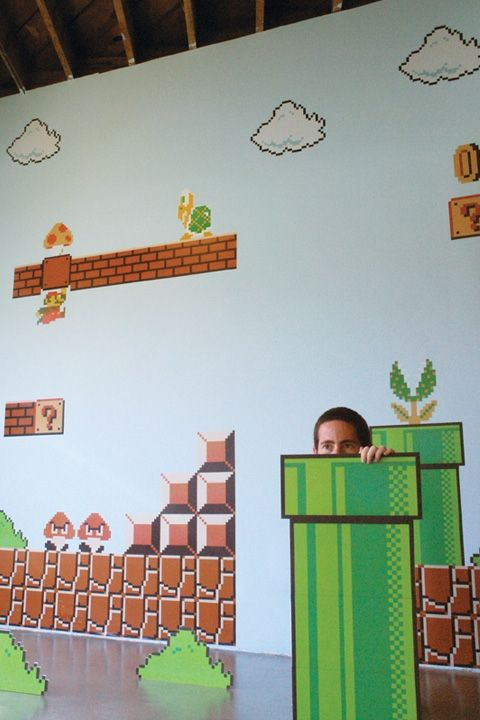 Super Mario Wall Decals...this Is Seriously Too Cool!