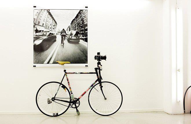 bike and camera