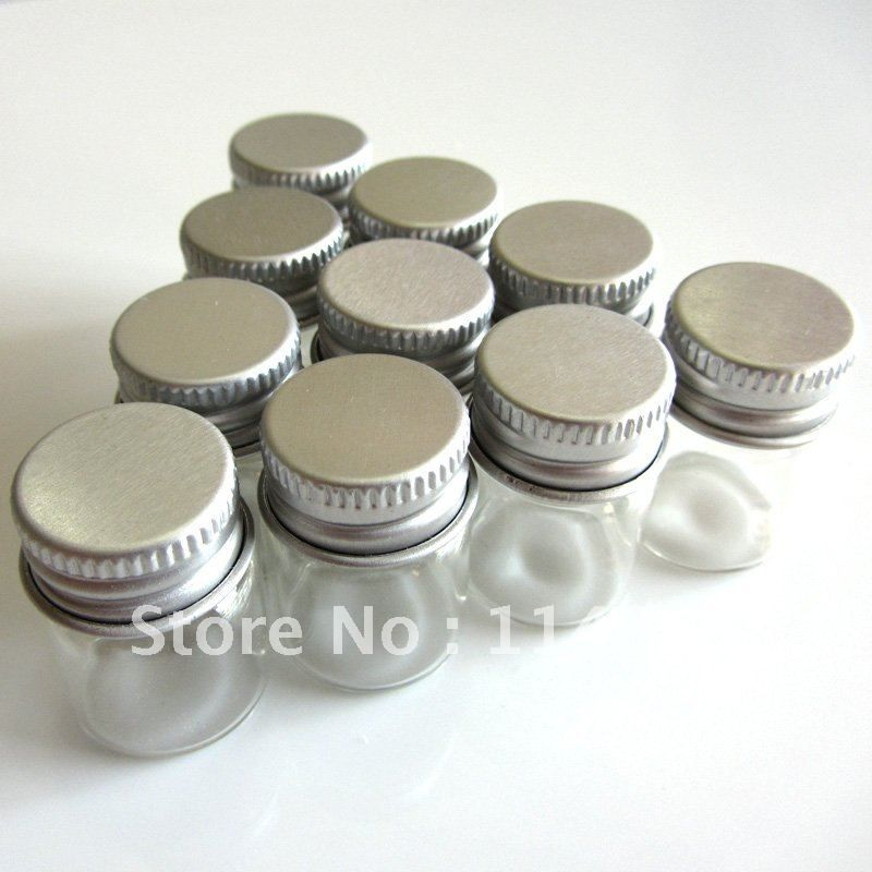 Wholesale Lot 10 Pcs 22x30mm Small Clear Bottles Glass Vials 5 0ml W Screw Caps For Wedding Holiday Decorati Kitchen Storage Storage Boxes Diy Kitchen Storage