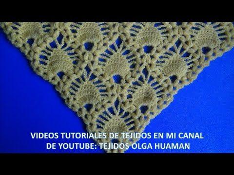 chal tejido a crochet video 2 - YouTube | Costura | Pinterest ...