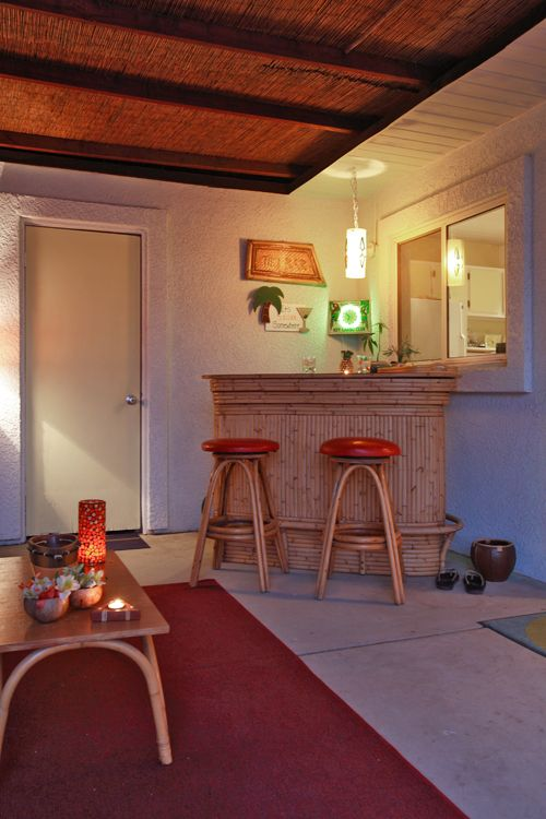 Small tiki bar for a living room. Retro on a budget! | Mid-Century ...