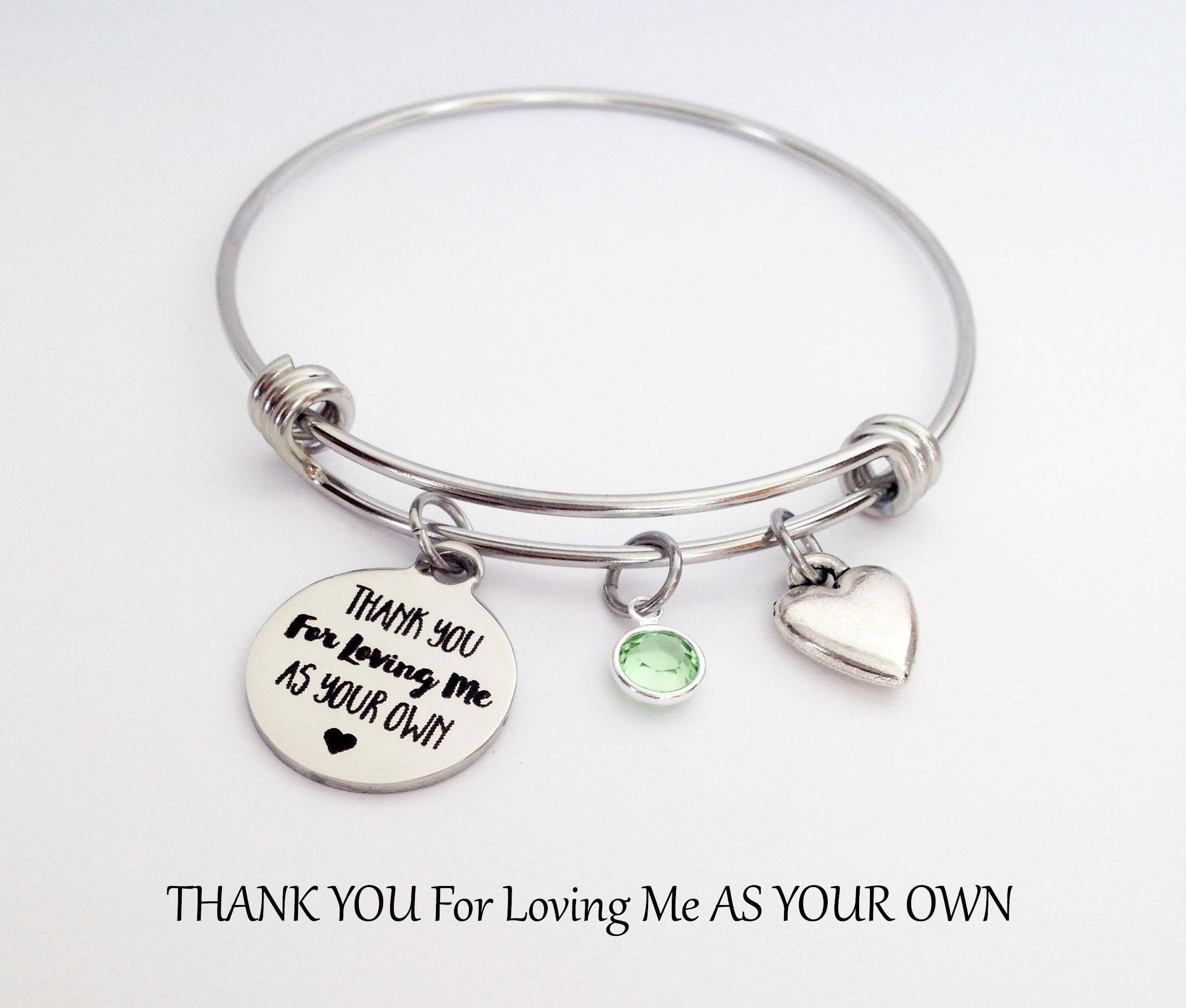 Stepmother Bracelet Stepmom Gift Birthday Gifts For Step Mom Mothers Day Ideas
