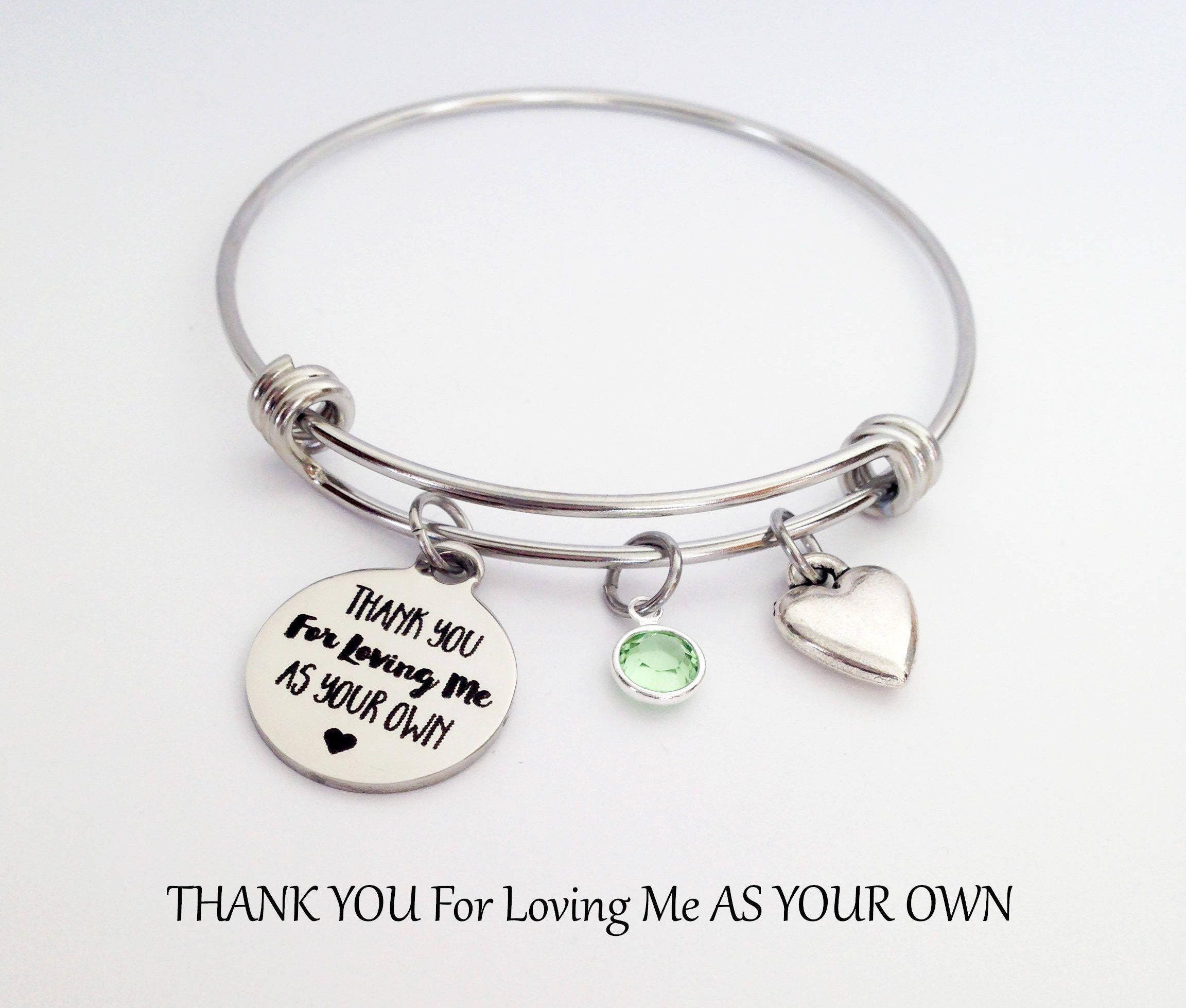 Stepmother Bracelet Stepmom Gift Birthday Gifts For Step Mom Mothers Day Ideas