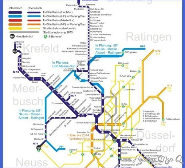 cool Essen/Düsseldorf Metro Map holidaymapq cool
