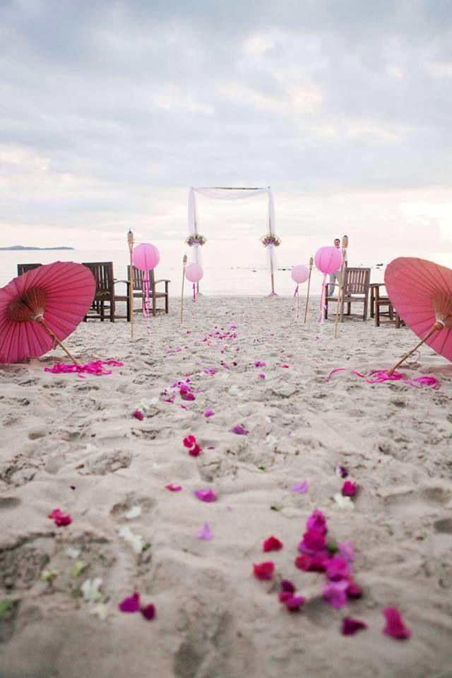#Koh Samui #Thailand #Pink Our wedding on Silver beach Koh Samui