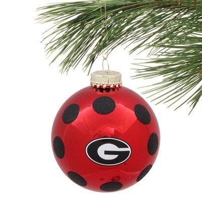 Georgia Bulldogs 2-Pack Glitter Dot Ornament Christmas Tree Wreath, Georgia  Girls, Black - Georgia Bulldogs 2-Pack Glitter Dot Ornament Georgia Bulldogs