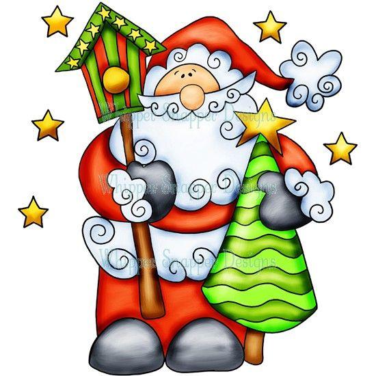 Santa Tree Christmas Drawing Christmas Paintings Christmas Images