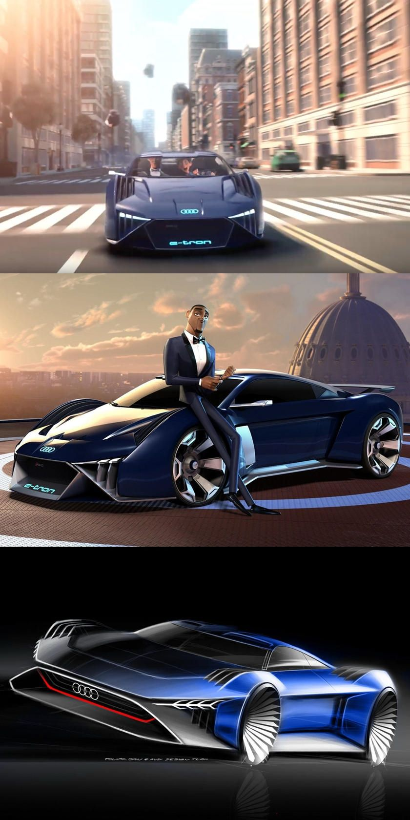Audi Rsq E Tron Supercar Comes To Life The Virtual Electric Supercar Is Set To Star In Upcoming Movie Spies Supercars Wallpaper Super Luxury Cars Super Cars