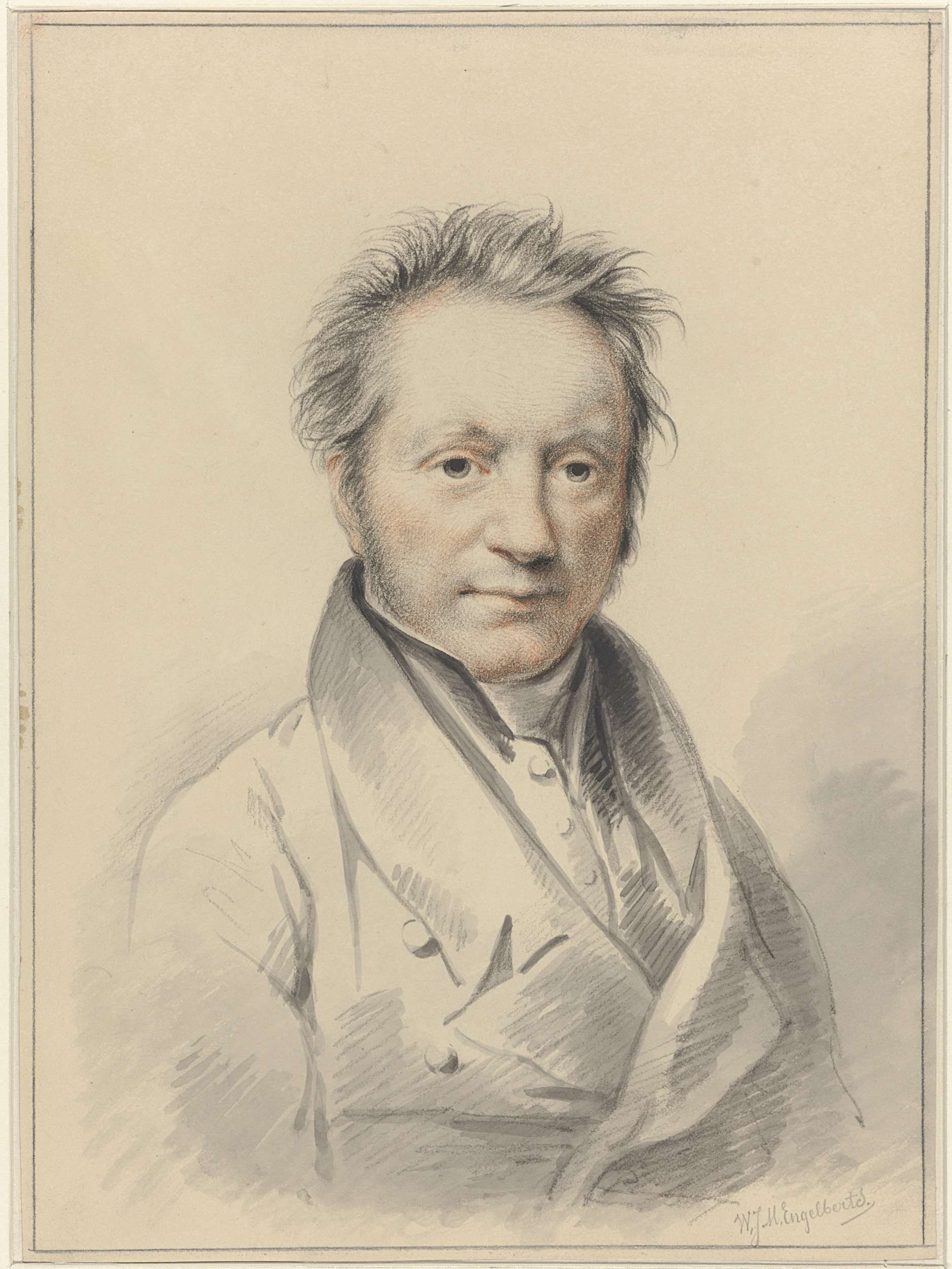 Willem Jodocus Mattheus Engelberts | Portret van Engelbert Michael Engelberts, Willem Jodocus Mattheus Engelberts, 1819 - 1887 |