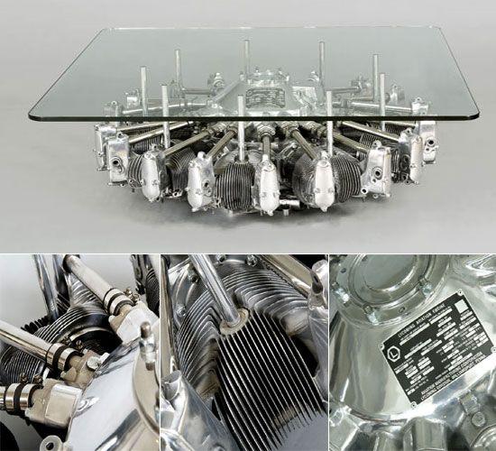 Decoratum Radial Engine table
