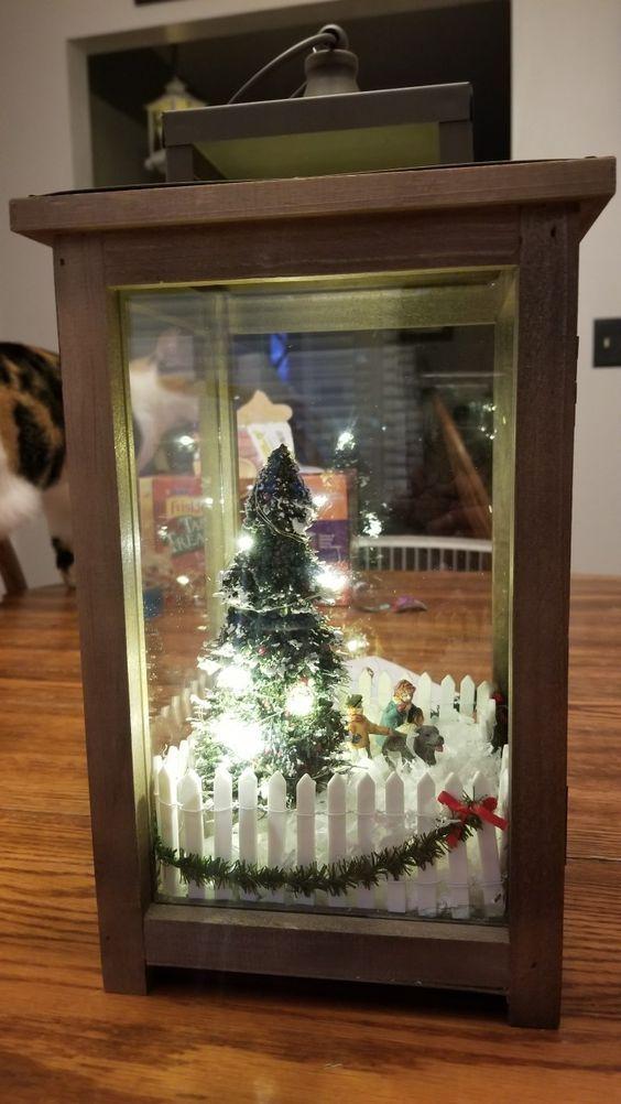 Photo of Cheap and Simple Dollar Store Christmas Decoration Ideas – Winter Lantern Scene