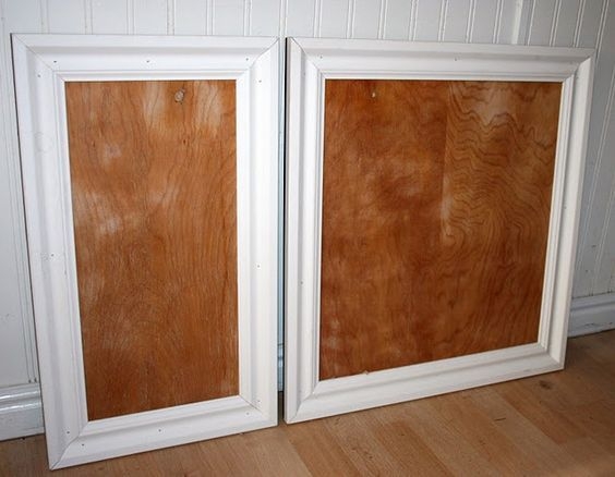 Adding trim to existing plain kitchen cabinet doors. This is ...
