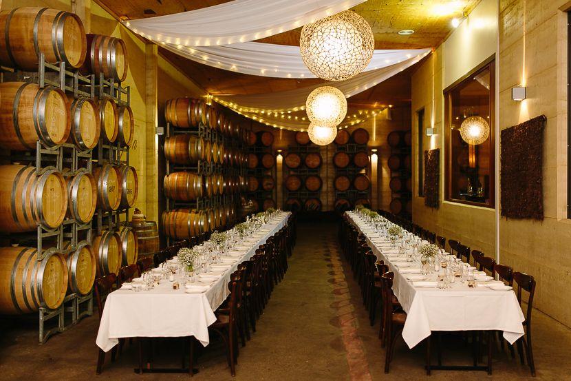 Margan Estate Barrel Room Wedding Reception Hunter Valley Image