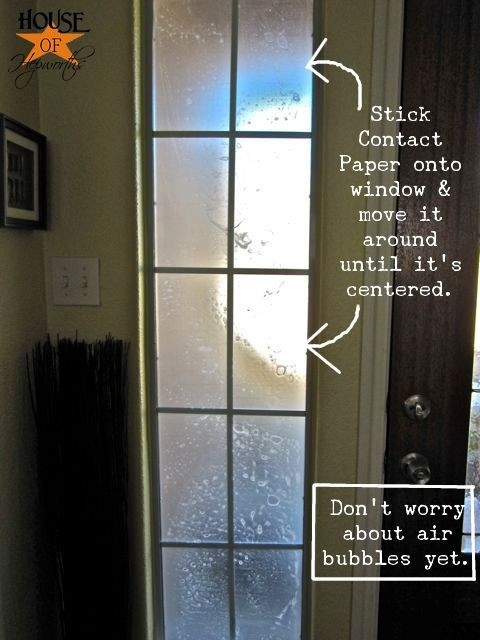 Cheap U0026 Easy Privacy   Use Clear Contact Paper To Frost Doors, Bathroom  Windows,
