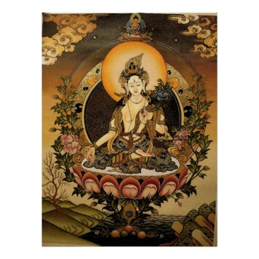 Tara Female Buddha Bodhisattva Jetsun Dolma Poster   Zazzle