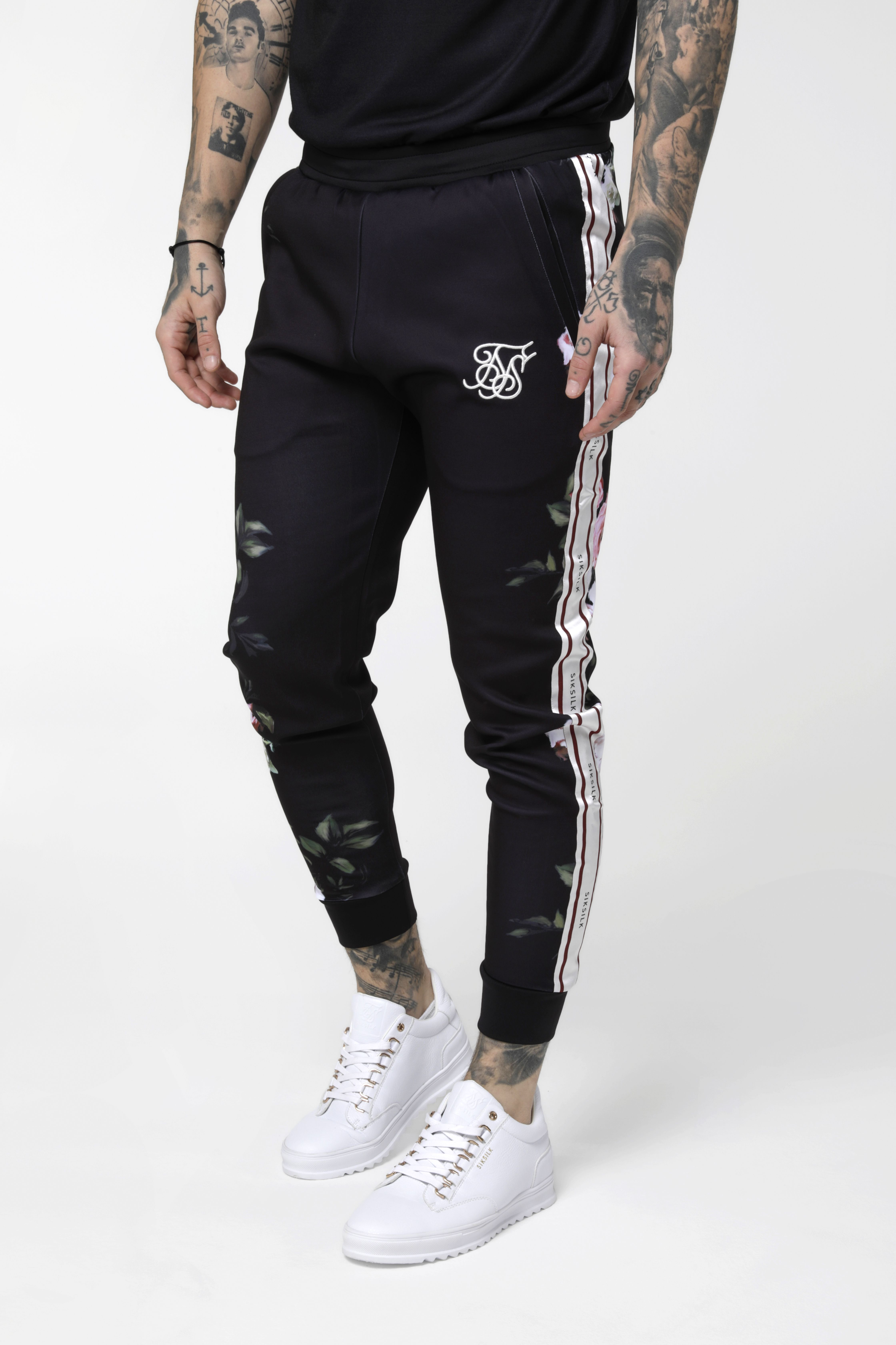 Pants SikSilk Cuffed Cropped Poly Tape Gold Men