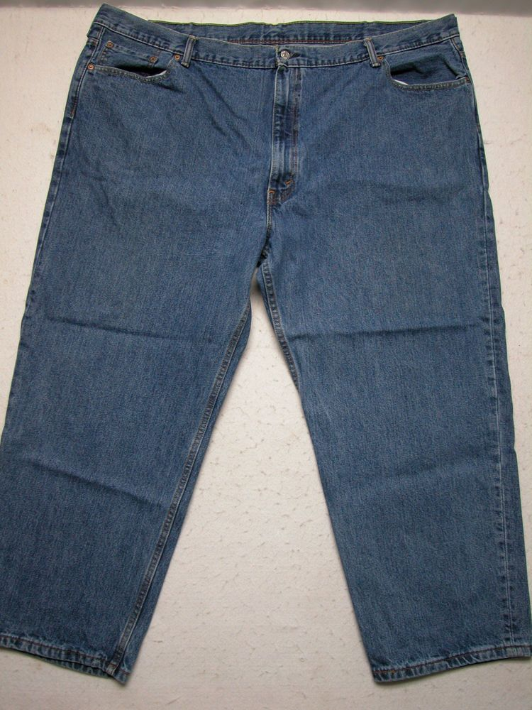 Levi's 550 Sz 52x29 Mens Relaxed Fit Denim Blue Jeans