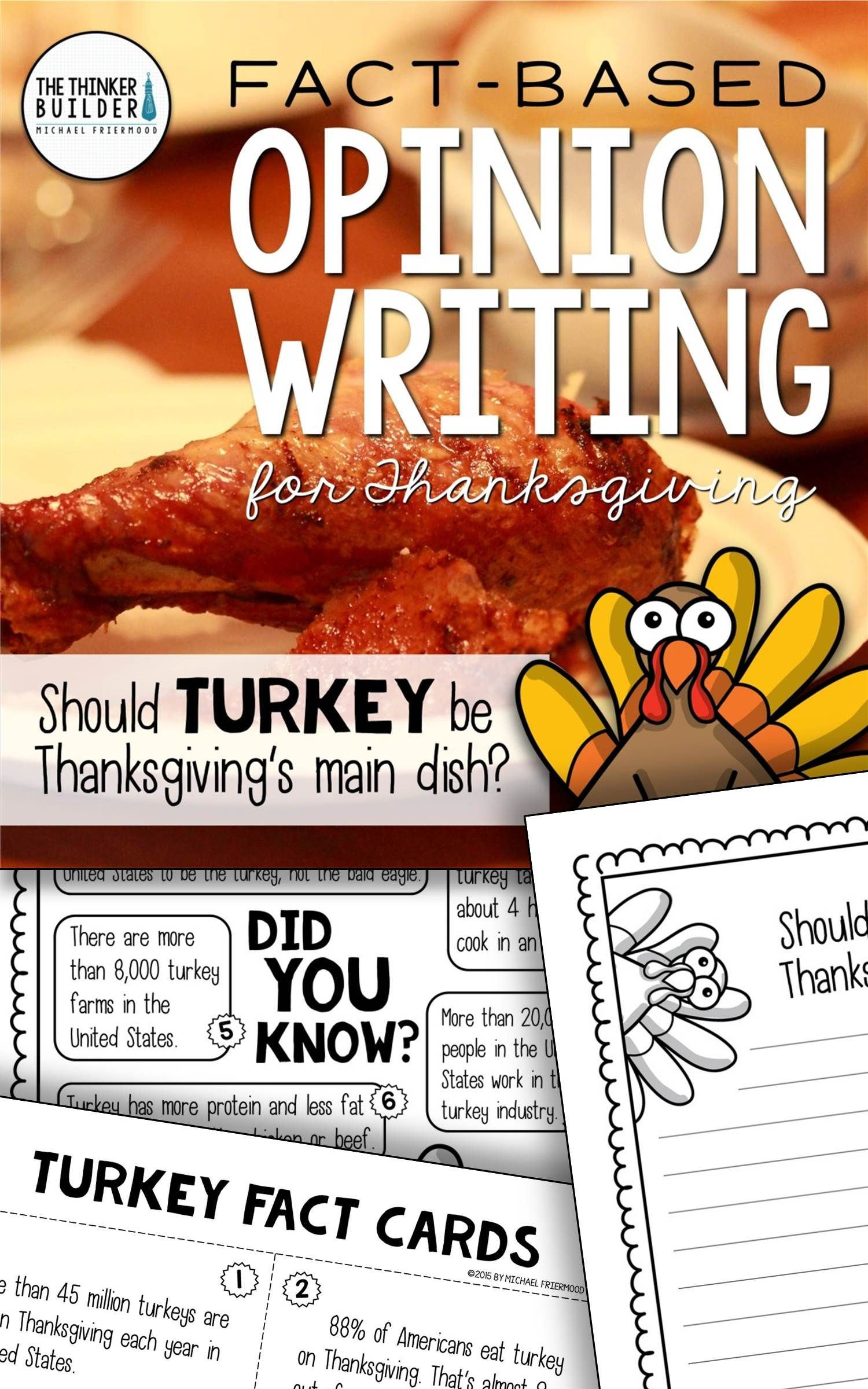Fact Based Opinion Writing For Thanksgiving Question 1 And 2