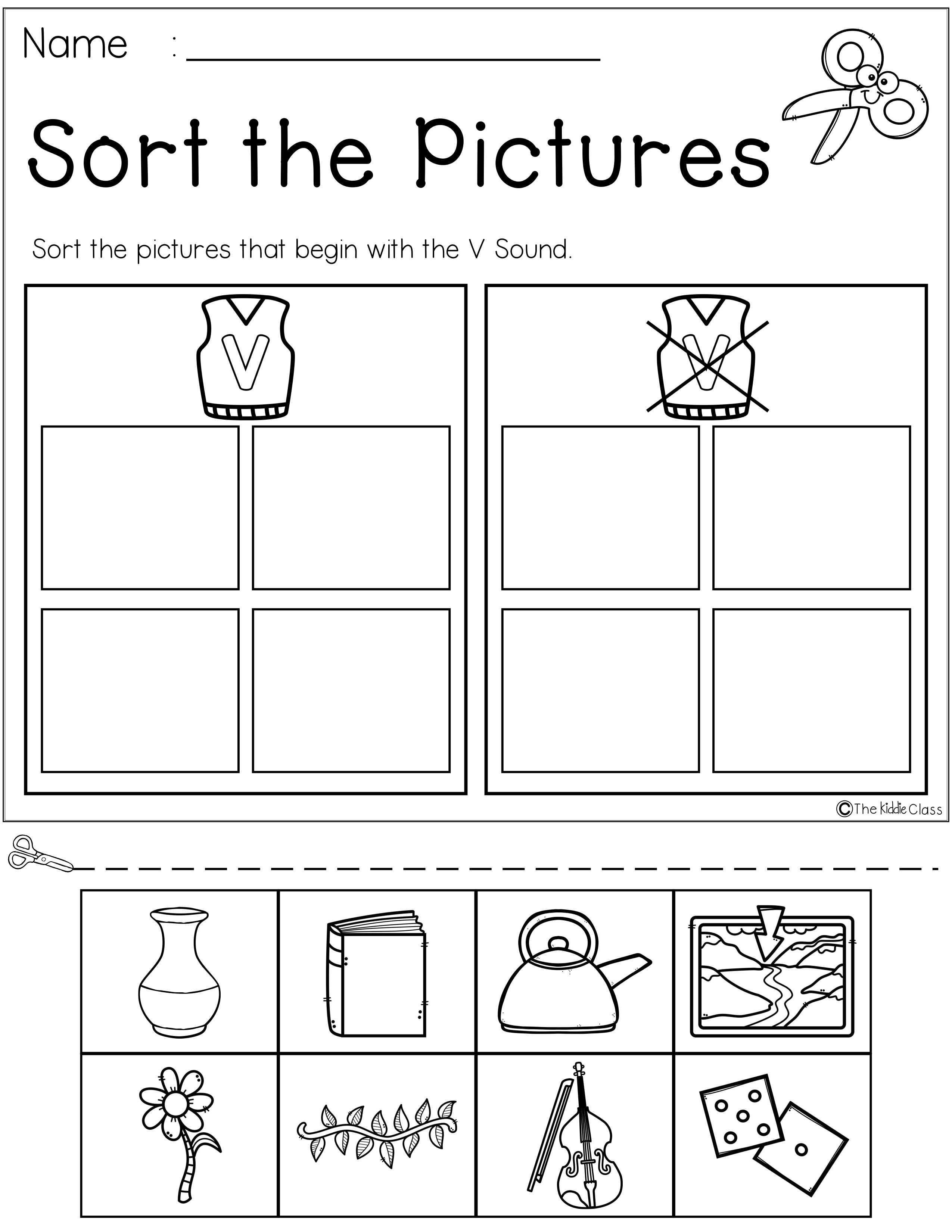 Letter Of The Week V Is Perfect For The Beginning Of The Year In Preschool Or Kindergarten Students Will Letter V Worksheets Kindergarten Worksheets Letter V [ 3300 x 2550 Pixel ]