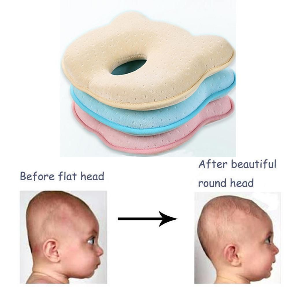 New Baby Pillow Prevent Flat Head Memory Foam Infant Cushion Sleeping Support