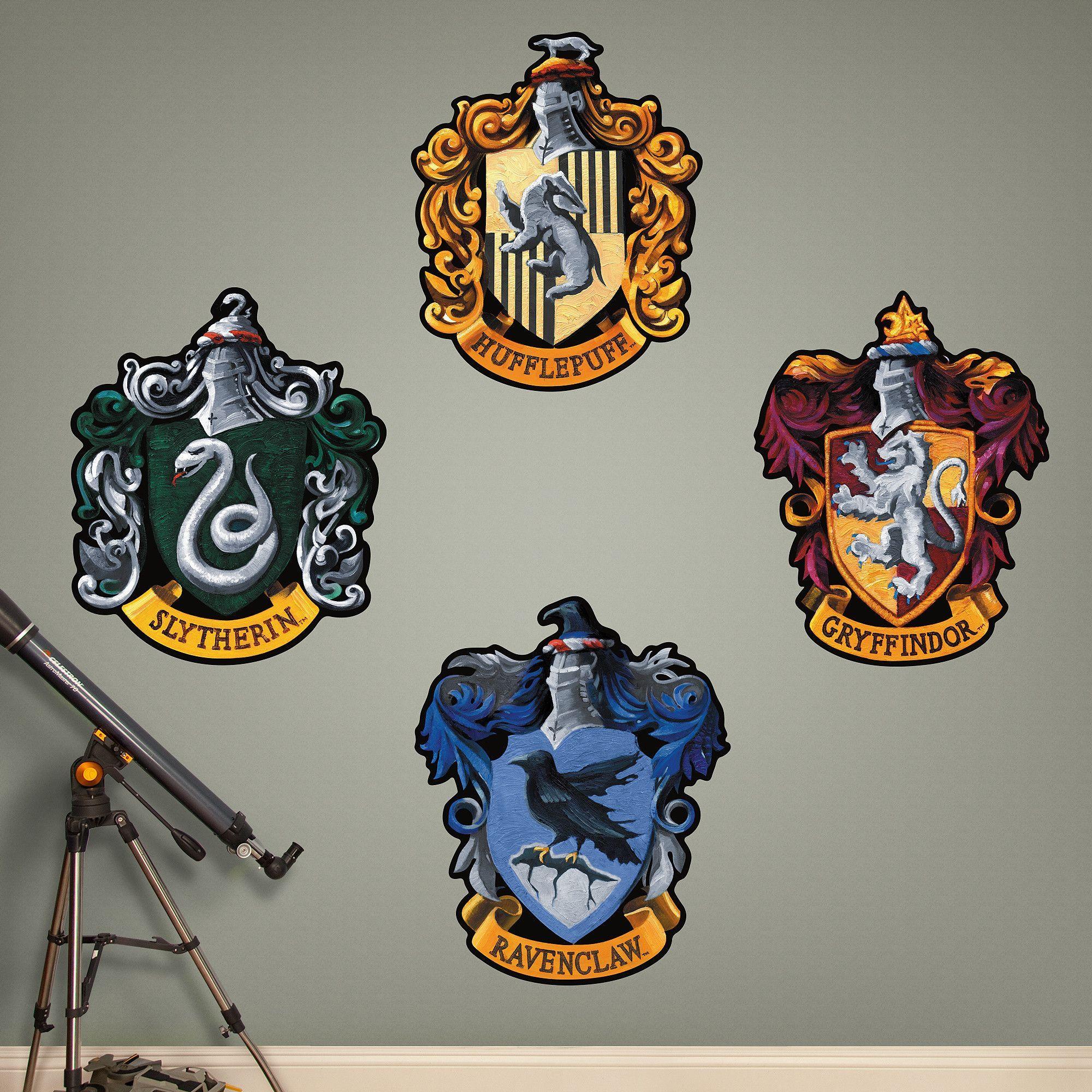 Harry Potter Hogwarts House Sigils Peel and Stick Wall ...