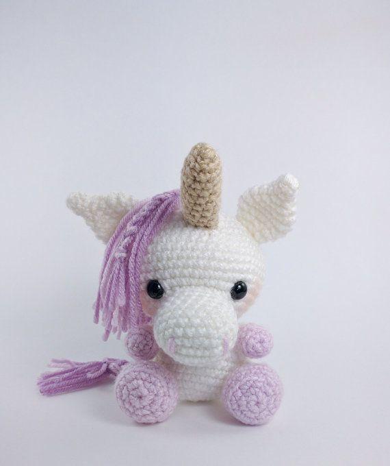 PATTERN: Udele the Baby Unicorn - crochet unicorn pattern ...