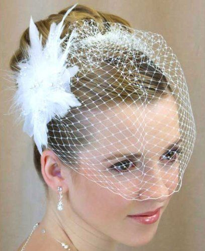White Birdcage Bridal Veil Feather Pearl Fascinator by Delicate Spirits, http://www.amazon.com/dp/B006NAXS8C/ref=cm_sw_r_pi_dp_XUXyqb0136QTK