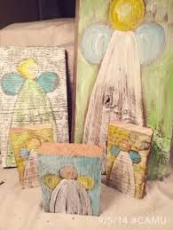 Image result for simple angel painted on wood