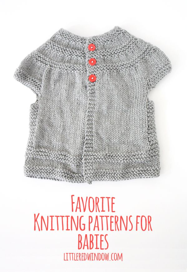 My Favorite Sweater Knitting Patterns for Babies | Tejido, Tejidos ...