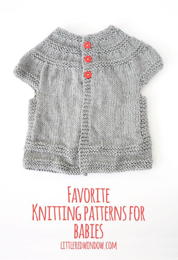 My Favorite Sweater Knitting Patterns for Babies | Tejido, Bebe y ...