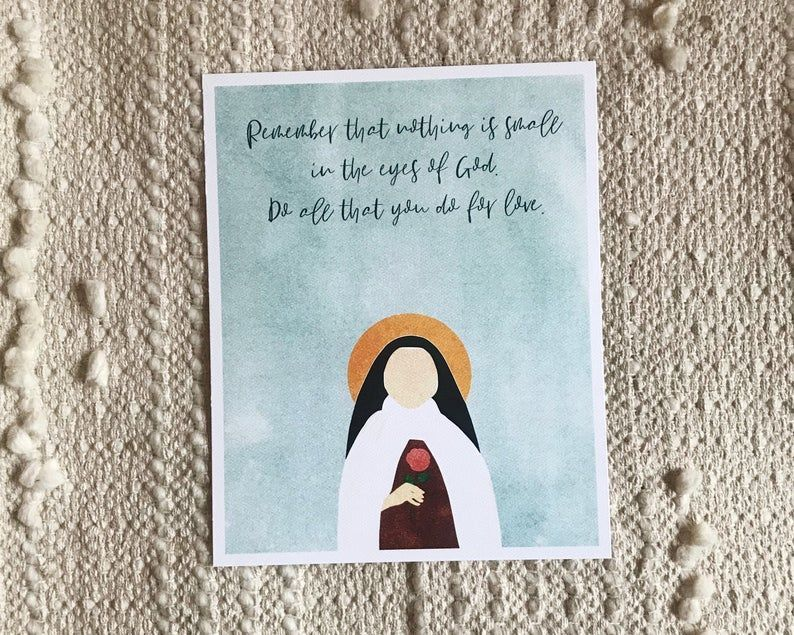 St Therese Of Lisieux Print St Therese Of Lisieux Wall Art Etsy Etsy Wall Art Art Lisieux