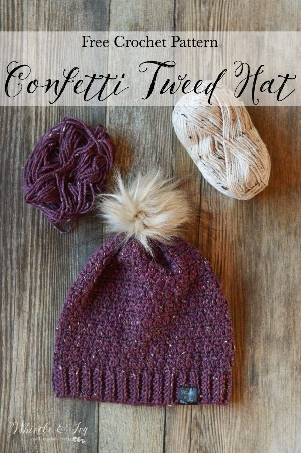Crochet Confetti Tweed Slouchy - Free Crochet Pattern   Pinterest ...